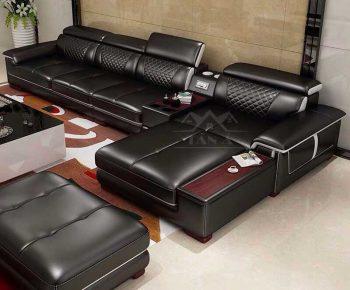 ghế sofa da phòng khách đẹp hiện đại