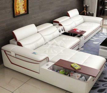 bộ bàn ghế sofa da phòng khách đẹp hiện đại, sofa chung cư giá rẻ tại tphcm