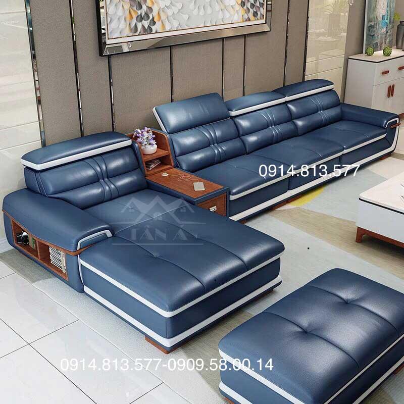 Sofa Da Cao Cấp N22
