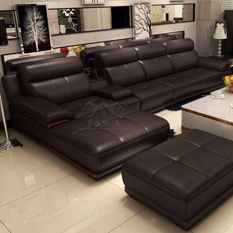 ghế sofa da hàn quốc giá rẻ, sofa phòng khách chung cư đẹp hiện đại