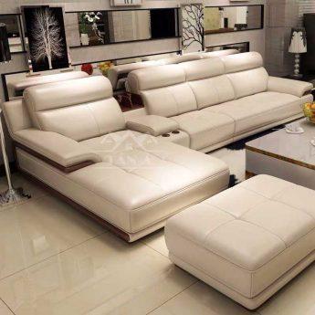 ghế sofa phòng khách chung cư gốc l hiện đại