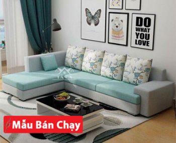 mẫu ghế sofa vải nỉ nhung đẹp giá rẻ cho phòng khách căn hộ chung cư nhỏ đẹp hiện đại