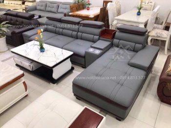 các mẫu ghế Sofa da phòng khách góc L mẫu đẹp hiện đại