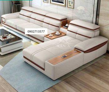 Sofa da góc l phòng khách