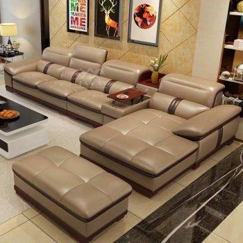 Ghế sofa da cao cấp phòng khách chung cư đẹp hiện đại giá rẻ