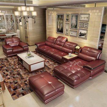Sofa da cao cấp màu đỏ