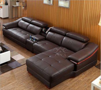 mẫu bàn ghế Sofa da phòng khách nhỏ giá rẻ dưới 10 triệu, sofa chung cư giá rẻ