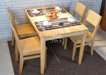 bàn ăn mặt gỗ 4 ghế giá rẻ