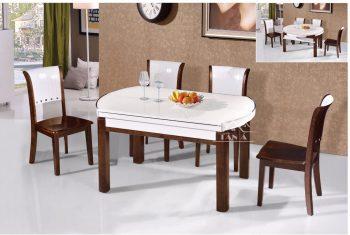 bàn ăn gia đình 6 ghế bằng gỗ sồi đẹp hiện đại nhập khẩu đài loan