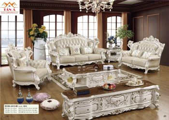 Bộ bàn ghế sofa da bò thật tân cổ điển đẹp hàng nhập khẩu đài loan malaysia giá rẻ tphcm