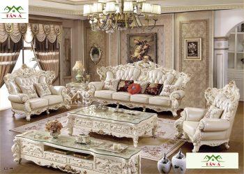 mua sofa tân cổ điển uy tín tại cần thơ, Bộ bàn ghế sofa da bò thật tân cổ điển đẹp hàng nhập khẩu đài loan malaysia giá rẻ tphcm
