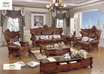 mẫu sofa tân cổ điển đẹp, Bộ bàn ghế sofa tân cổ điển đẹp hàng nhập khẩu đài loan malaysia giá rẻ tphcm