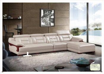 Sofa da phòng khách đẹp hiện đại giá rẻ tại bình dương