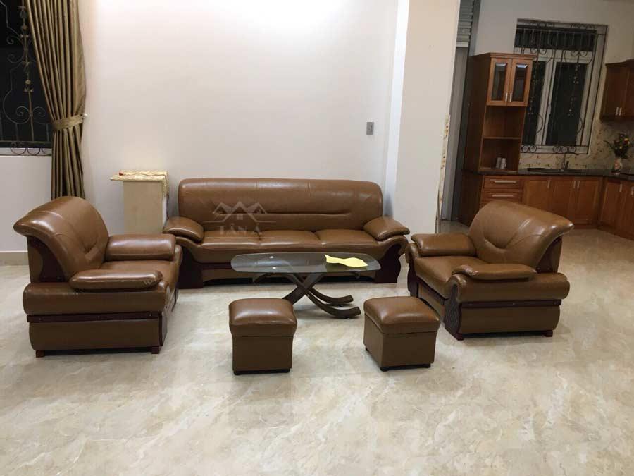 giá bộ bàn ghế sofa da phòng khách đẹp hiện đại nhập khẩu malaysia tại tphcm