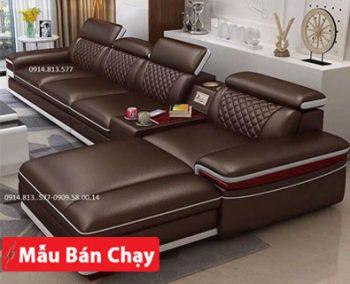 những mẫu bàn ghế Sofa da đẹp giá rẻ cho phòng khách căn hộ chung cư góc l hiện đại giá rẻ tại tphcm