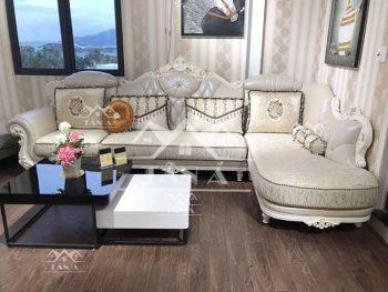 bàn ghế sofa vải nỉ bố nhung tân cổ điển hàng nhập khẩu đài loan giá rẻ tại tphcm, ghế sofa cổ điển giá rẻ