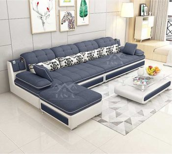 các mẫu ghế Sofa Vải nỉ bố phòng khách Góc L giá rẻ cho phòng khách căn hộ chung cư hiện đại