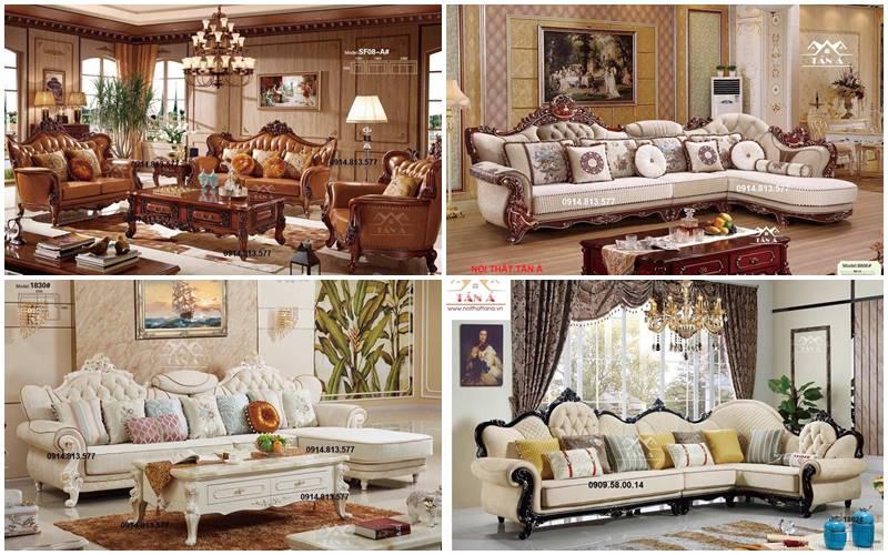 ghế sofa tân cổ điển giá rẻ tại tphcm, bộ sofa tân cổ điển đẹp hàng nhập khẩu đài loan