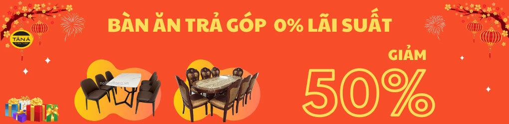 bàn ăn trả góp 0%