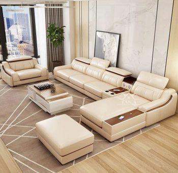 mẫu bộ bàn ghế sofa da đẹp hiện đại giá rẻ cho phòng khách căn hộ chung cư nhỏ đẹp hiện đại góc l