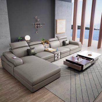 mẫu bàn ghế sofa da đẹp giá rẻ cho phòng khách căn hộ chung cư nhỏ đẹp hiện đại góc l