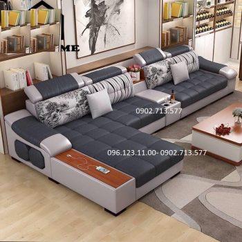 mẫu bàn ghế sofa vải nỉ bố nhung đẹp giá rẻ cho phòng khách căn hộ chung cư nhỏ đẹp hiện đại