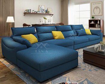 mẫu ghế sofa vải đẹp giá rẻ cho phòng khách căn hộ chung cư nhỏ đẹp hiện đại