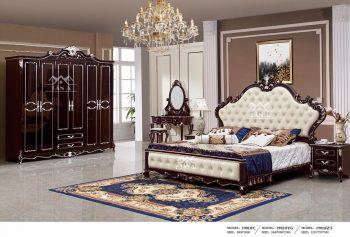 Bộ giường tủ cưới tân cổ điển cho phòng ngủ