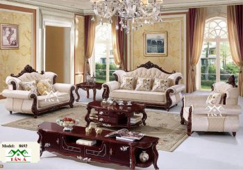 bộ bàn ghế Sofa Tân Cổ Điển đẹp Cao Cấp Nhập khẩu đài loan, sofa da nhập khẩu giá rẻ