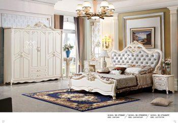 combo bộ giường tủ gỗ công nghiệp, giường ngủ tân cổ điển màu trắng nhập khẩu đài loan giá rẻ tại tphcm