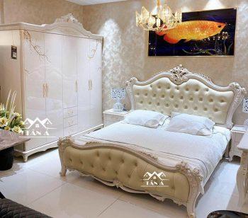 Bộ giường tủ cho phòng ngủ tân cổ điển đẹp hàng nhập khẩu đài loan, bàn trang điểm Tân cổ điển nhập khẩu TA-M39