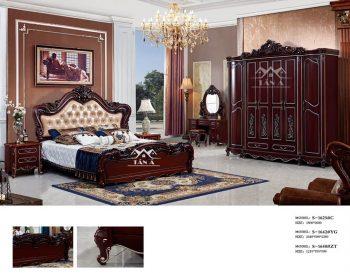 Các mẫu combo bộ giường tủ đẹp giá rẻ cho phòng ngủ tân cổ điển giường ngủ tân cổ điển đẹp gỗ sồi nga công nghiệp mdf bàn phấn trang điểm nhập đài loan