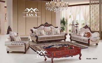 mẫu bàn ghế sofa phòng khách tân cổ điển đẹp nhập khẩu đài loan