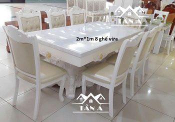 bàn ăn mặt đá cổ điển đẹp giá rẻ, bộ bàn ăn nhập khẩu đài loan