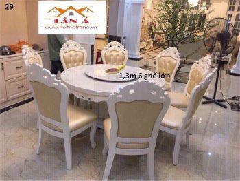 bộ bàn ăn mặt đá nhập khẩu đài loan, bàn ăn đẹp giá rẻ