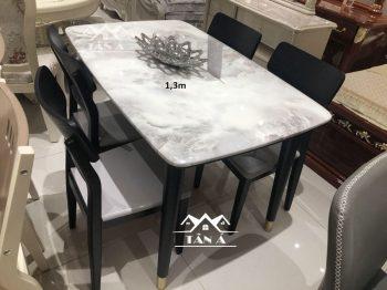 bộ bàn ăn mặt đá 4 6 8 ghế nhập khẩu đài loan, bàn ăn gỗ sồi tự nhiên