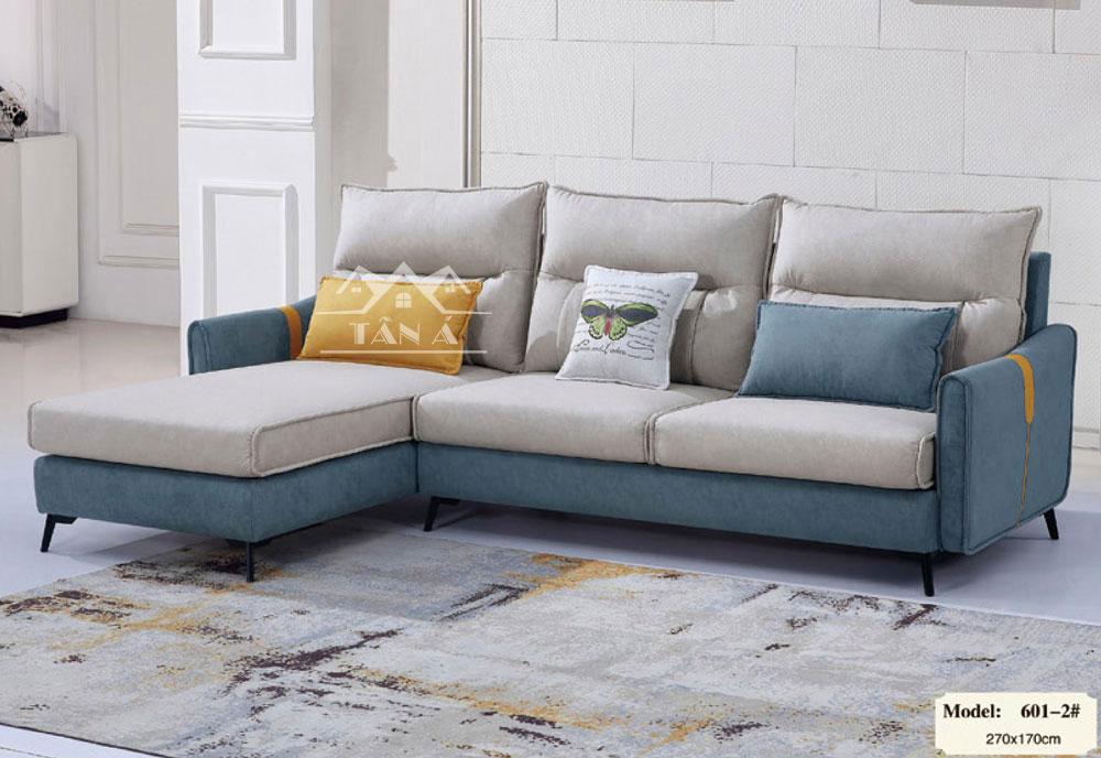 Sofa vải giả da góc L cao cấp nhập khẩu