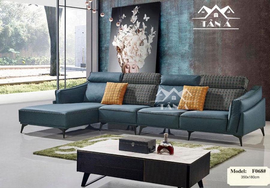 Sofa da góc L nhập khẩu Malaysia cao cấp