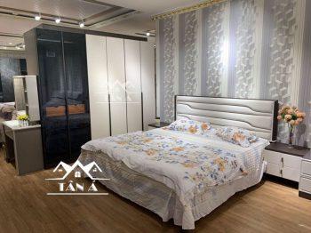 mẫu giường tủ phòng ngủ giá rẻ đẹp hiện đại nhập khẩu đài loan, giường ngủ bọc da gỗ công nghiệp gỗ sồi