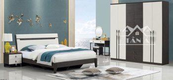 mẫu giường tủ phòng ngủ giá rẻ đẹp hiện đại nhập khẩu đài loan, giường ngủ gỗ công nghiệp gỗ sồi