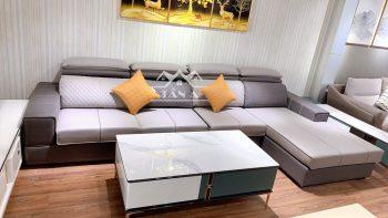 Ghế sofa vải giả da hàng nhập khẩu chất lượng cao
