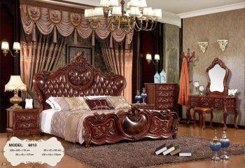 Bộ giường ngủ tân cổ điển hàng nhập khẩu đài loan