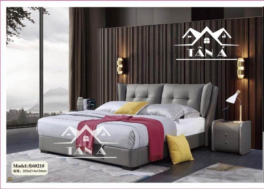 Giường ngủ bọc da giá rẻ đẹp tphcm, giường ngủ hiện đại nhập khẩu đài loan