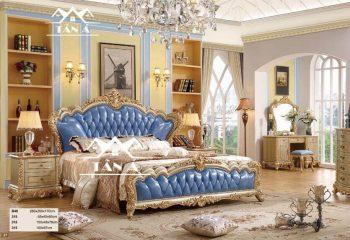 Giường ngủ tân cổ điển cao cấp nhập khẩu đài loan