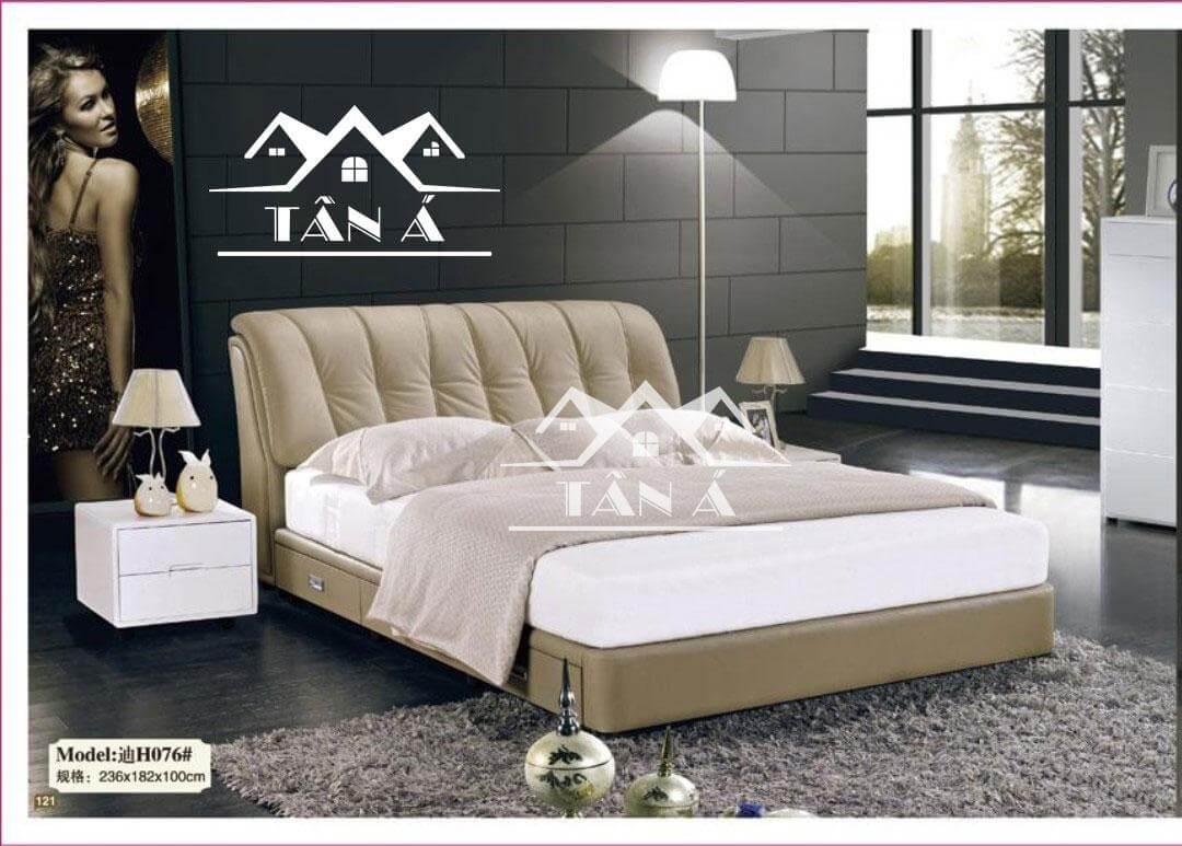 Giường ngủ bọc da giá rẻ đẹp hiện đại, giường ngủ nhập khẩu đài loan