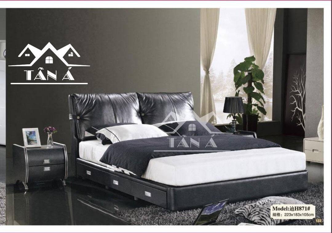 Giường ngủ bọc da đẹp cao cấp nhập khẩu, mẫu giường đẹp giá rẻ