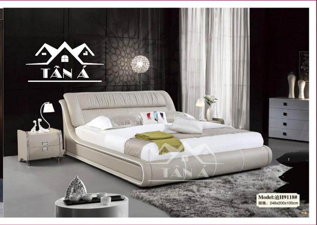 mẫu giường ngủ bọc da nhập khẩu, giường ngủ giá rẻ đẹp hiện đại