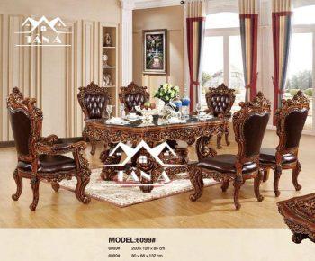 bàn ăn tân cổ điển gỗ sồi nhật khẩu đài loan