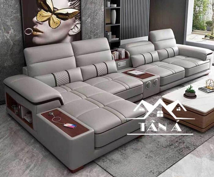 sofa phòng khách giá rẻ, sofa da hàn giá rẻ