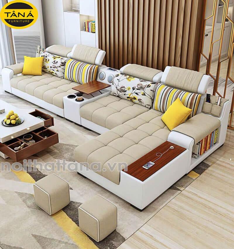 ghế sofa vải nỉ bố đẹp giá rẻ, sofa chung cư